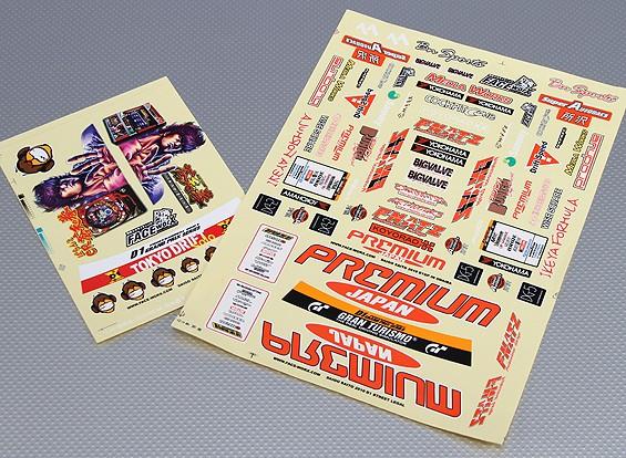 Hoja de auto-adhesivo de la etiqueta - de primera calidad Drift Escala 1/10 (2 piezas)