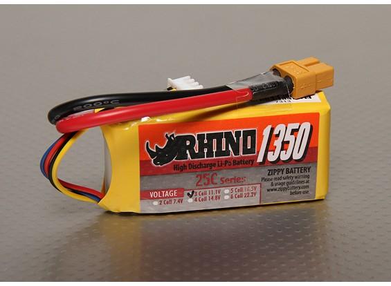 Rhino 1350mAh 3S 11.1v Lipo 25C Paquete