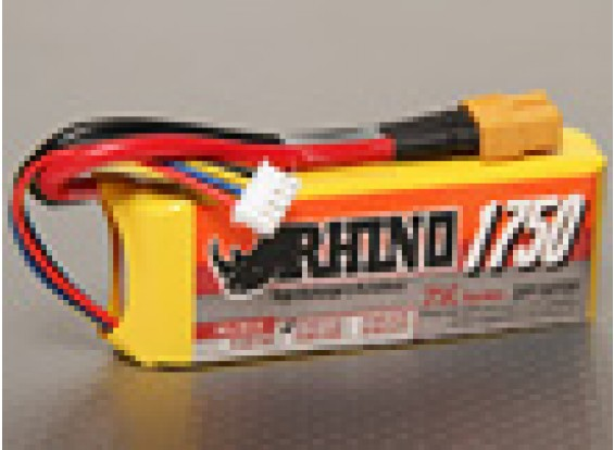Rhino 1750mAh 3S1P 25C Lipo Pack de