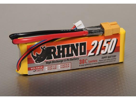 Rhino 2150mAh 2S 7.4V 30C Lipo Pack de