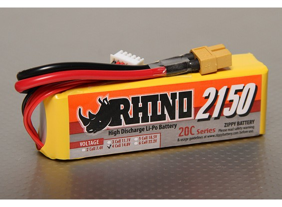 Rhino 2150mAh 4S1P 20C Lipo Pack de