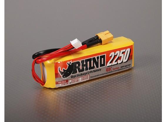 Rhino 2250mAh 14.8v Lipo 4S Paquete 40C