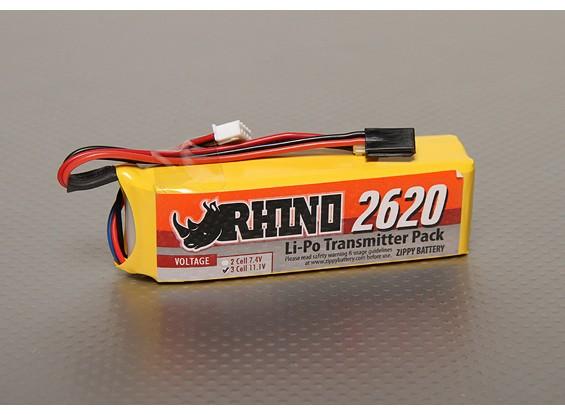 Rhino 2620mAh 3S 11.1v Low-Discharge transmisor Lipoly Paquete