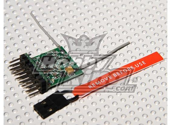 DSM2 Compatible Parkflyer receptor de 2,4 GHz (V2.0)