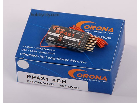 Corona sintetizado receptor de 4 canales 35Mhz (v2)