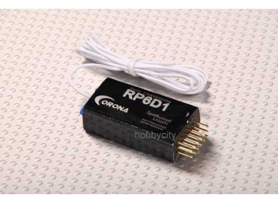 35Mhz Corona Sintetizado Dual-Conv receptor 6Ch