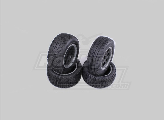 F / R Rueda Terminator / Neumáticos Conjunto Baja 260 y 260s (4pcs / set)