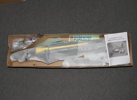 SCRATCH / DENT - Hawker Hunter 70mm Jet EDF, 6s, w / retrae y Flaps, RAFY (PNF)