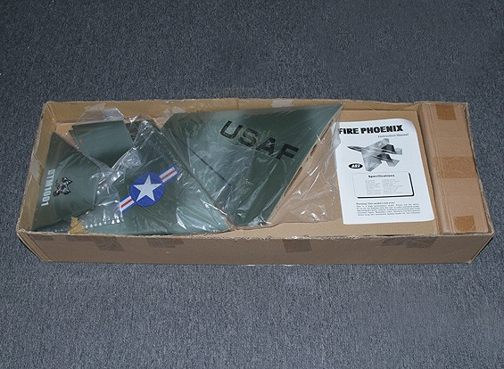 SCRATCH / DENT Bomberos de Phoenix de 90 mm de fibra de vidrio EDF Jet 1100 mm (verde / gris) (ARF)