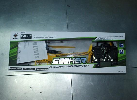 SCRATCH / DENT - V915 2.4G 4 canales helicóptero - de color amarillo ®