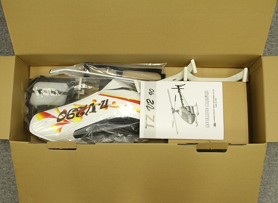 SCRATCH / DENT - TZ-V2 0.90 Tamaño Nitro Competencia Flybarless 3D Kit de helicóptero (transmisión por correa)