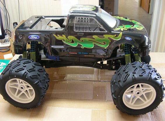 SCRATCH / DENT - Smartech juguetes Tornado F150 1: 6 4WD RTR Nitro RC Truck (UA de almacenes)