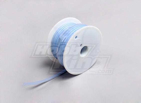 Combustible de silicio tubo - azul transparente - 2.4x5.2mm (15 metros)