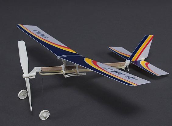 Skylark L-9 goma Powered Freeflight Modelo 2 en 1 monoplano o biplano