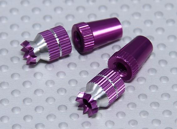 Aleación antideslizante TX Control de palos cortos (Futaba TX púrpura)