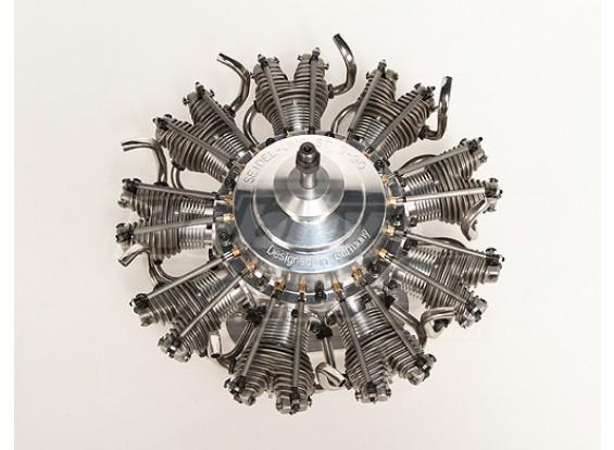Motor Seidel nueve cilindros, bujías de precalentamiento Radial