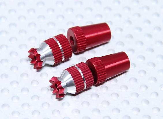 Aleación antideslizante TX Control de palos cortos (Futaba TX - rojo)