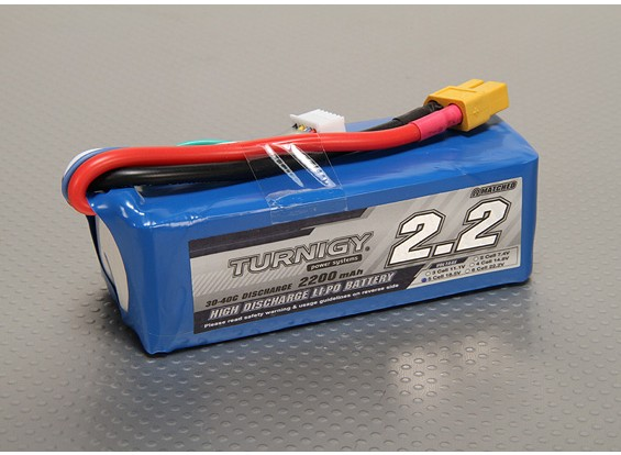 Turnigy 2200mAh Lipo 5S Paquete 30C