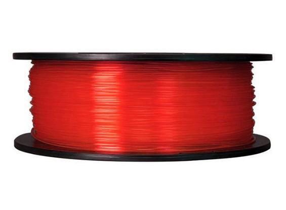 CoLiDo 3D Filamento impresora 1.75mm PLA 1kg Carrete (rojo translúcido)