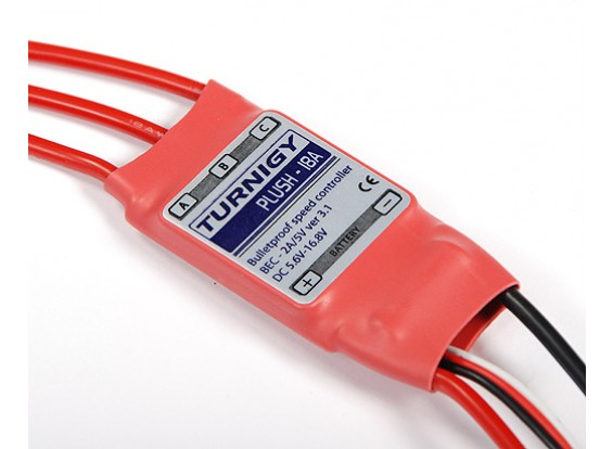 Controlador de velocidad de 18amp felpa TURNIGY w / BEC