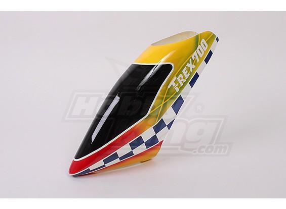 Canopy de fibra de vidrio para Trex 700 Nitro-