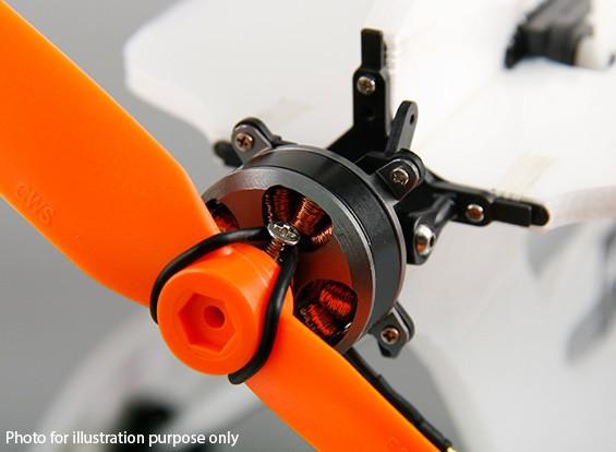 Micro 3D de un solo eje de empuje vectorial montaje del motor sin escobillas Kit Inc. 2206 Outrunner