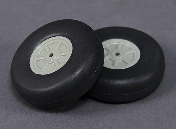 Escala de peso ligero de 75 mm de la rueda (2 piezas)