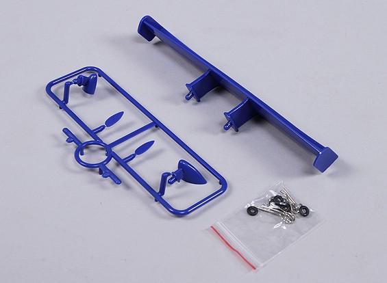 1/10 del ala y espejos con clips (azul)