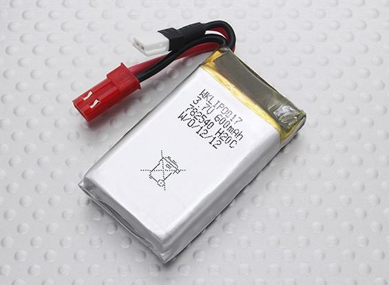 Walkera 600mAh 1S 20C Lipo batería (los trajes del QR Infra X, V120D02S)
