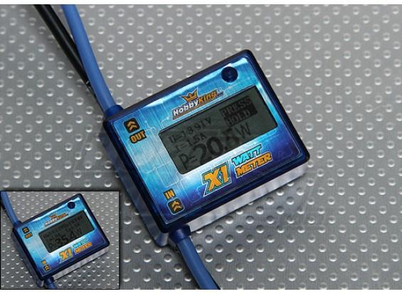 HobbyKing X1 vatímetro y voltaje del analizador