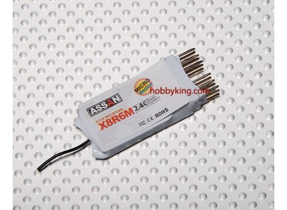 X8 R6M 6Ch Micro receptor de 2,4 GHz (Short antena)