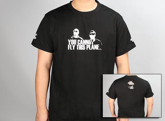 flitetest Camiseta No se puede volar este avión - Negro (grande)