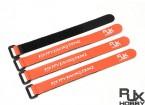 RJX Ultra-Grip Silicone Velcro Battery Straps Orange (200X20mmx4pcs)