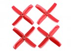 Dalprop Q4040 Bull Nose 4 Blade Propellers CW/CCW Set Red (2 pairs)