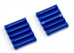 Ligera Ronda de aluminio Sección espaciador M3x22mm (azul) (10 piezas)
