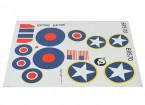 Durafly ™ Spitfire Mk5 desierto Esquema de la RAF y la hoja de la etiqueta USAAF