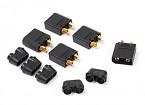 Nylon XT90 conectores macho (5 PC / bolsa) Negro