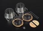 HobbyKing® Aleación Vector Kit de conversión de empuje de 70 mm del FED Jets (Doble)