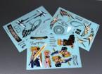 Hoja de auto-adhesivo de la etiqueta - Destino T Halaown 1/10 Escala