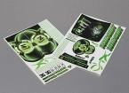 Auto-adhesivo de la etiqueta Hoja - Nomura 2010 D1 1/10 Escala