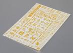 Hoja de auto-adhesivo de la etiqueta - Patrocinador 1/10 Escala (Oro)