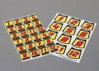 Auto-adhesivo de la etiqueta Hoja - Kit Número 1/10 Escala (rojo)