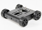 4WD de aluminio del chasis del robot - Negro (KIT)
