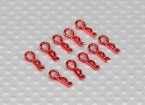 Clips cuerpo mini (rojo) (10 piezas)