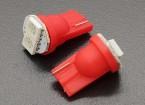 LED de luz del maíz de 0.4W 12V (2 LED) - Rojo (2 unidades)