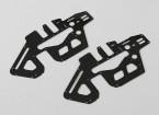 Trex / HK450 PRO 1.2mm fibra de carbono principal Conjunto de bastidor laterales (2pcs / bolsa)
