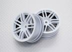 Escala 1:10 alta calidad Touring / deriva de las ruedas del coche RC de 12 mm Hex (2 piezas) CR-RS4W