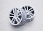 Escala 1:10 alta calidad Touring / deriva de las ruedas del coche RC de 12 mm Hex (2 piezas) CR-GTW