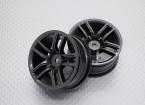 Escala 1:10 alta calidad Touring / deriva de las ruedas del coche RC de 12 mm Hex (2 piezas) CR-GTM