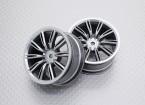 Escala 1:10 alta calidad Touring / deriva de las ruedas del coche RC de 12 mm Hex (2 piezas) CR-Virages